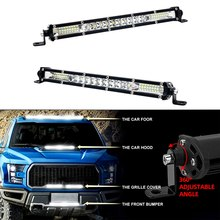 Ultra Slim 10''20''30''auto Led Licht Bar Combo Spot Flood Rijden Werk Licht 12V 24V For A Atv Off-road 4X4 Jeep Vrachtwagens