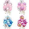 1 комплект Микки и Минни Маус Фольга воздушные шары День рождения украшения детский душ для мальчиков и девочек, Globos Микки и Минни Маус тема ...
