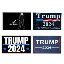 Trump 2024 Flag With 2 Grommets Polyethylene 100D Polyethylene Nylon Banner Election Flag 90*150cm