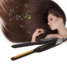 CHJPRO 10mm Small Flat Iron Hair Straightener Electric Comb Professional Wave