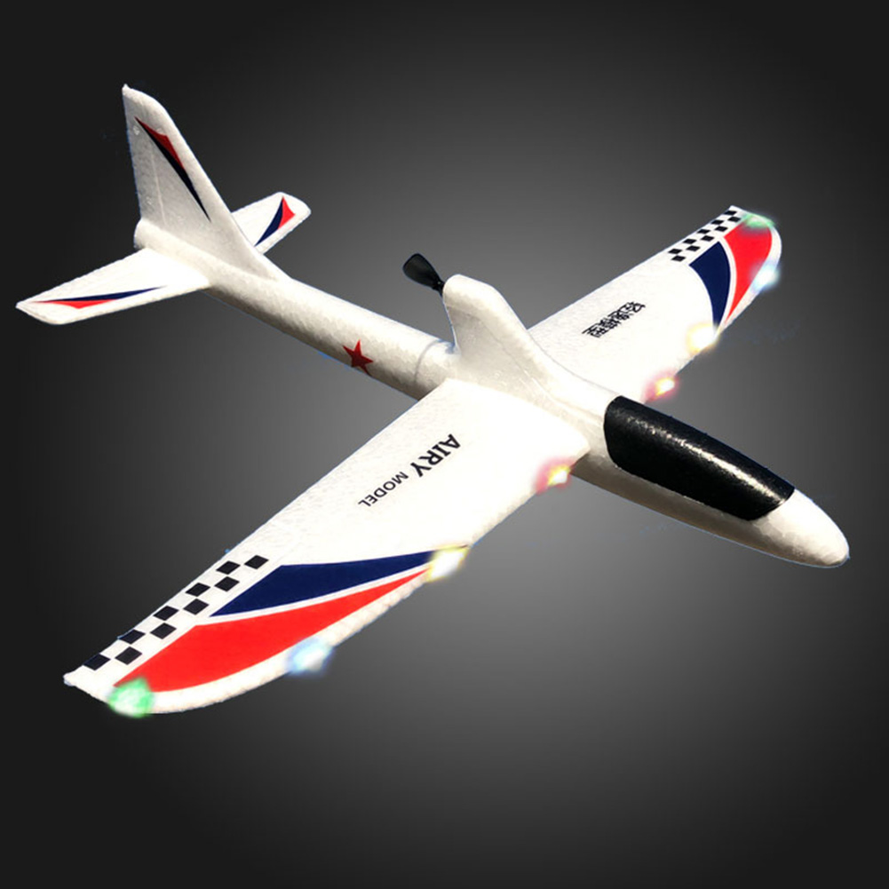 Foam For Children Hand Throwing Airplane Model Electric Educational Toy RC Glider Gift With Light DIY Launch Capacitor Kids image