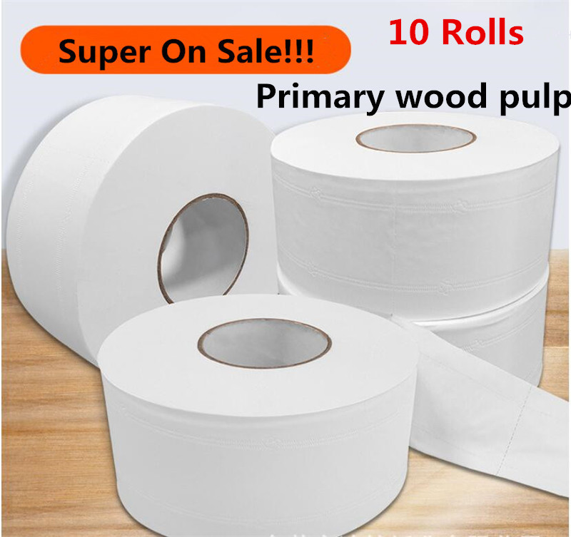 Plug Thickness Toilet Paper Toilet Roll Tissue 10 Rolls Paper Towels Tissue For Home Kitchen Accessories Hot Dropshipping