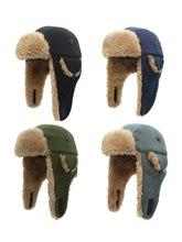 Connectyle – chapeau en polaire doublé Sherpa, coupe-vent, russe, avec grands rabats, chapeau de Ski chaud, pour enfants, garçons