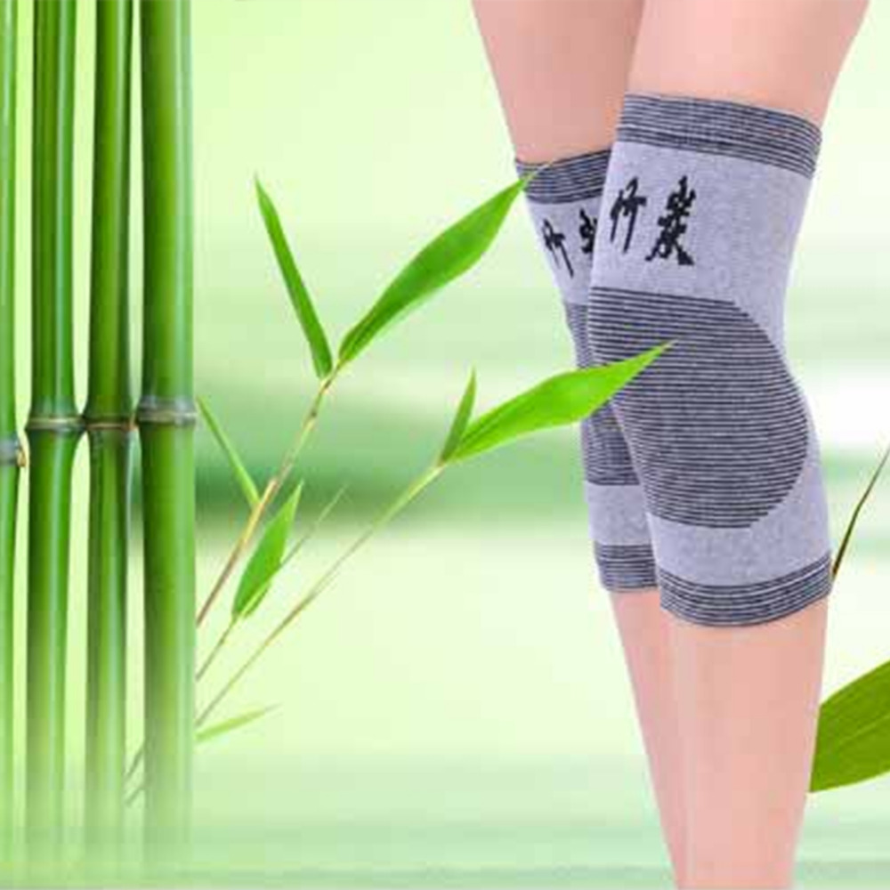 Knee Support Protector 1 Pairs Leg Arthritis Injury Gym Sleeve Elasticated Bandage knee Pad Charcoal Knitted Kneepads Warm in Elbow Knee Pads from Sports Entertainment