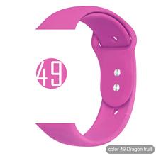 Miękki silikonowy pasek sportowy do zegarka Apple 5 4 3 2 1 38MM 42MM zespoły gumowa bransoletka do zegarka pasek do serii Iwatch 5 4 40mm 44mm tanie tanio ProBefit 22 cm Od zegarków Nowy z metkami for Apple Watch Series 1 2 3 4 Buckle band for apple watch 4 3 2 1 200001557