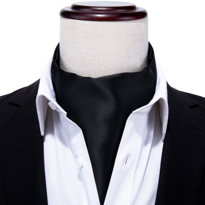 Kerchief Handkerchief Suits Pocket Square SOLID BLACK *U.S SHIPPING*