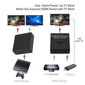 Image 4 - Przełącznik HDMI 4K 2 porty dwukierunkowy przełącznik HDMI 1x2 / 2x1 er Splitter obsługuje Ultra HD 4K 1080P 3D HDR HDCP na PS4 Xbox HDTV