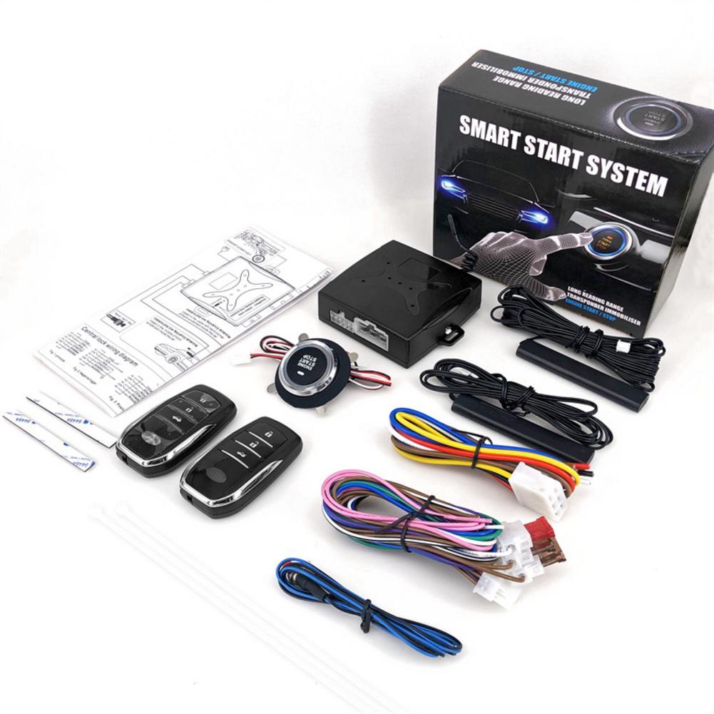 Sistema de entrada sin llave SUV para coche, 12V, sistema de alarma de arranque del motor, pulsador de un botón, sistema de arranque remoto, accesorios para coche