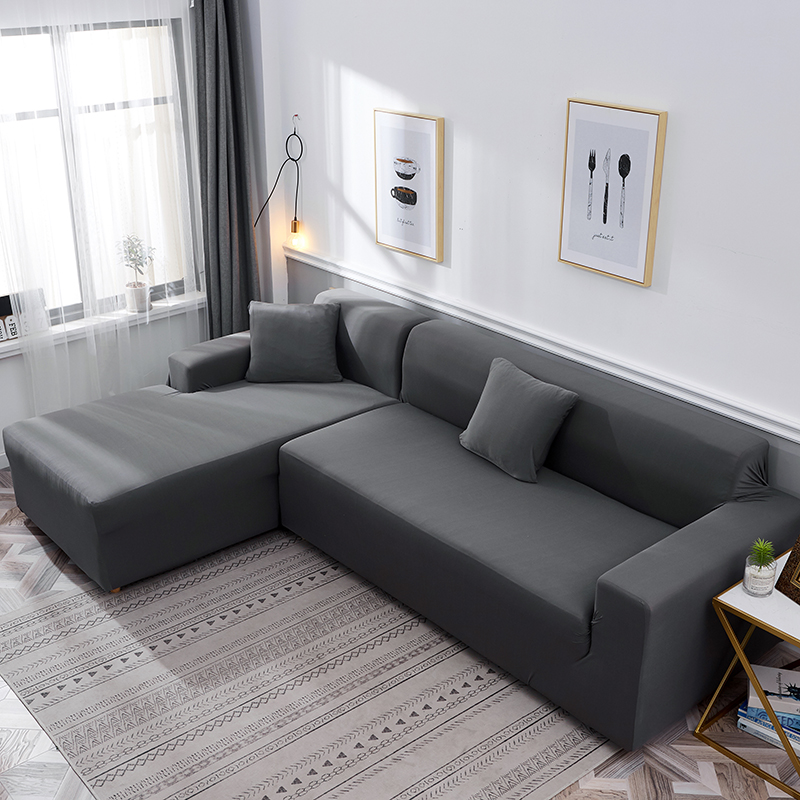 Stretch Couch Slipcover Sofa Covers For Living Room Cubre Corner Funda Sofa Chaise Cover Lounge Home Elastic Sofa Cover