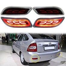2 peças de reposição automóvel para lada priora luz de freio luz traseira da cauda led suv 4wd sedan carros