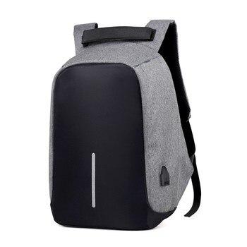 Mochila antirrobo para hombres, mochila para ordenador portátil, mochila de viaje para mujeres, mochila de gran capacidad para negocios con carga USB para estudiantes universitarios
