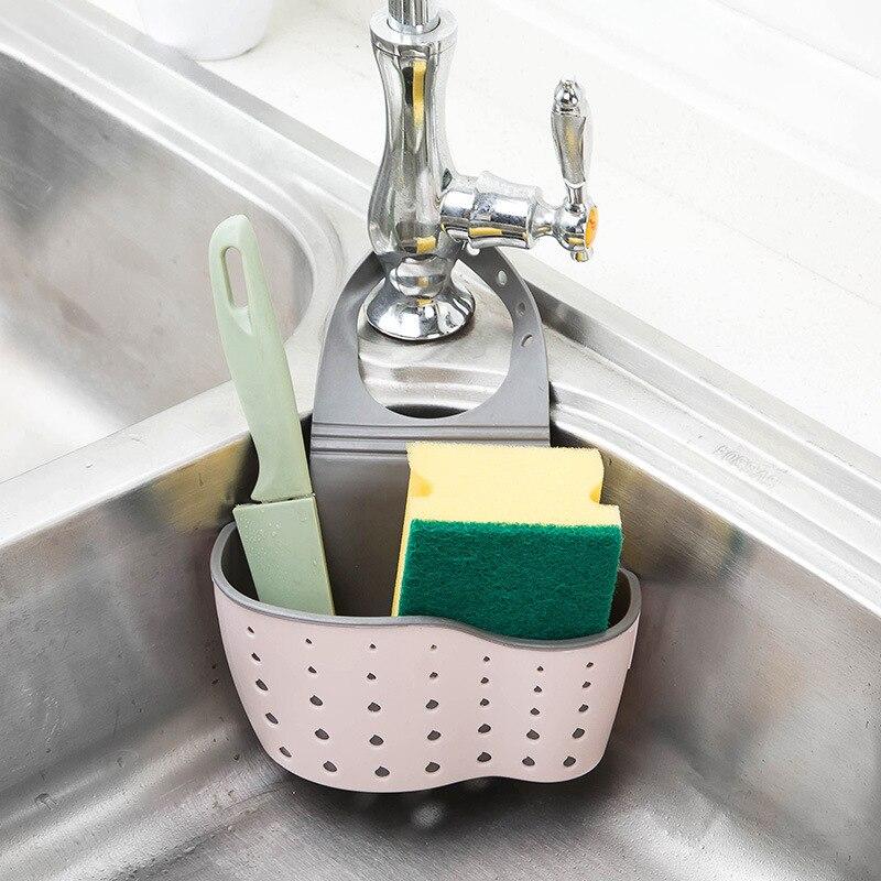 Mensola lavandino Sapone Spugna Rack di Scarico del Bagno Titolare Contenitori E Complementi Per Cucina Ventosa Da Cucina Organizzatore Lavello accessori per la Cucina di Lavaggio 1