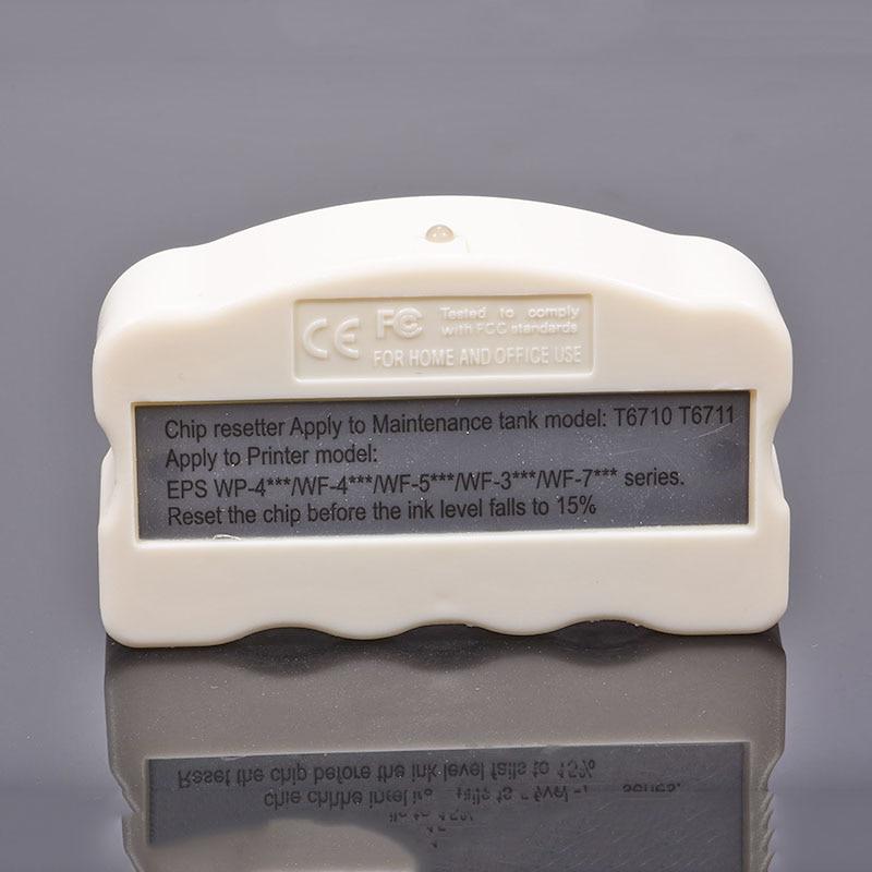 T6710 T6711 Resíduos Resetter Chip Para epson Tanque De Manutenção De Tinta WF-7710 WF-7715 WF-7210 WF-7110 WF-7610 WF-7620
