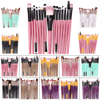 15pcs Set Makeup Brushes for Foundation Eyeshadow Eyebrow Lip and Concealer Brush,Luxry Cosmetic Tool Set цена 2017