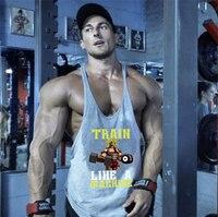 Camiseta sin mangas deportiva de algodón para hombre, chaleco sin mangas para entrenamiento de culturismo y Fitness