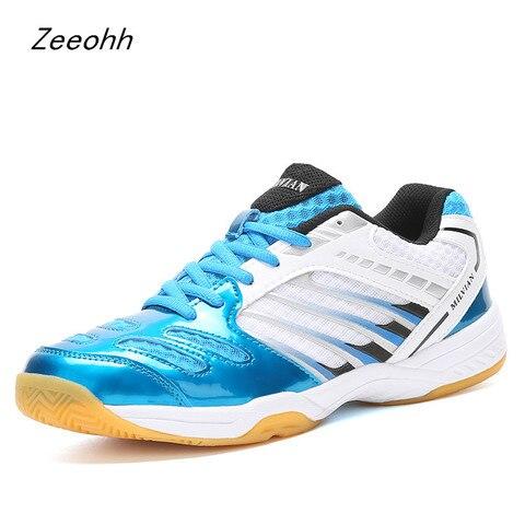 Sapatos de Alta Zapatos de Hombre Marca Badminton Qualidade Anti-escorregadio Treinamento Profissional Tênis Tamanho Grande 36-45 Esporte Masculino Sapatos