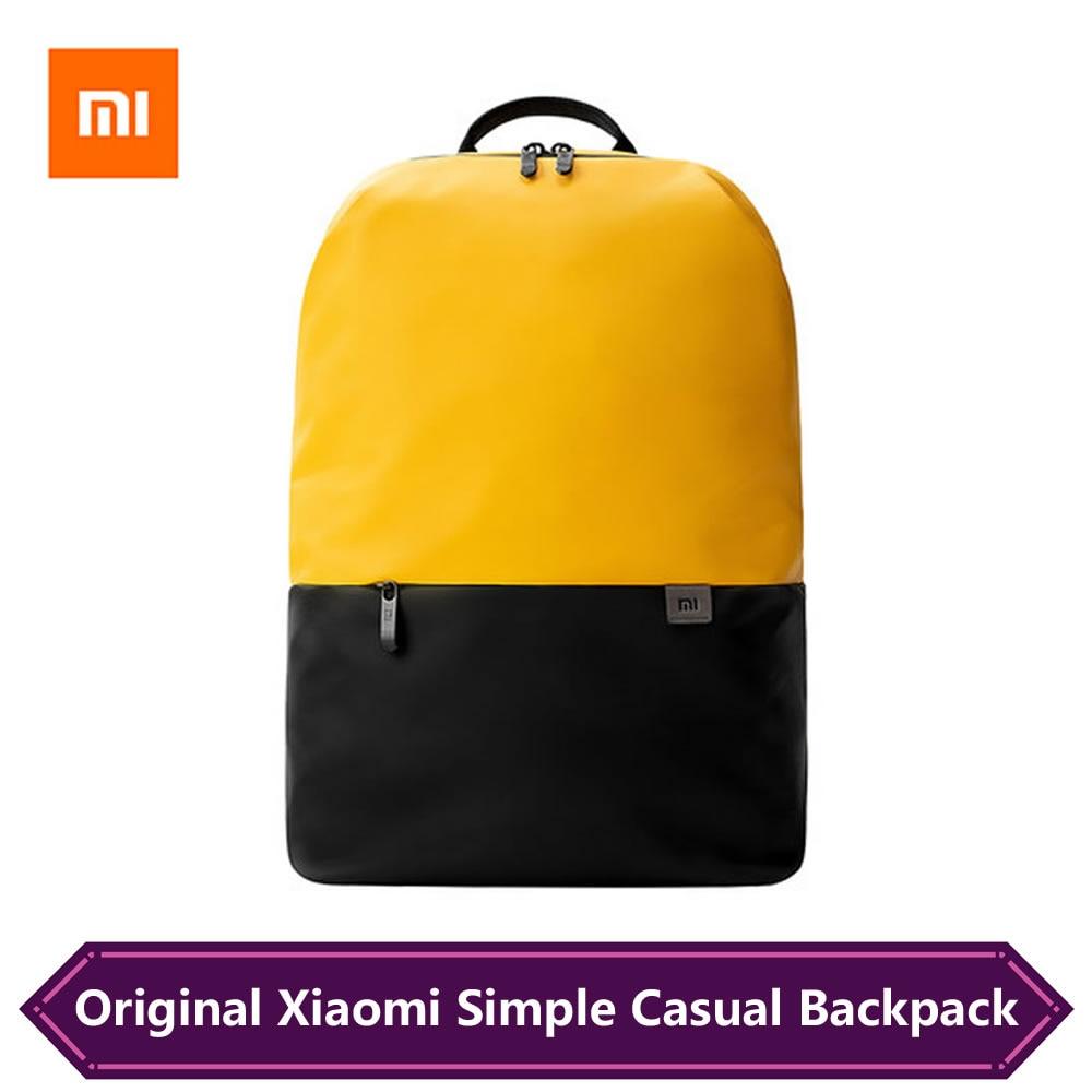 Original Xiaomi Simple Casual Bag Large Capacity Mi Backpacks Lightweight Waterproof Laptop Backpack Multi-function Travel Bag