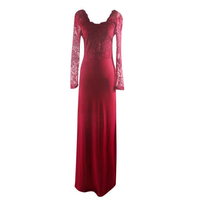 1087 Vintage Vestidos Cortos De Graduación 2019 Mujeres Señoras Formal Vestido De Fiesta De Noche Vestido De Baile De Encaje De Manga Larga Vestido