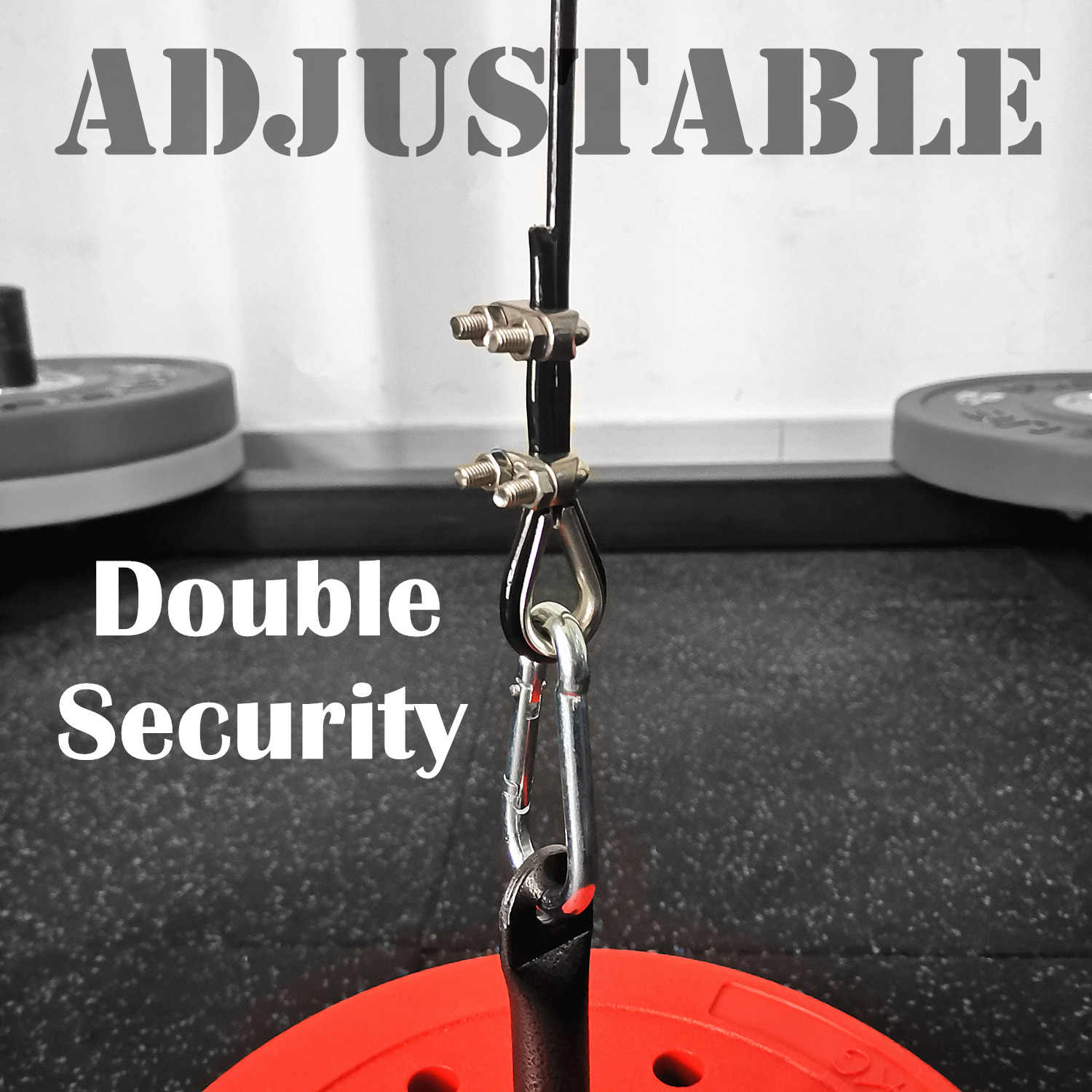 Bodybuilding Equipment DIY Pulley Cable System Load Pin Lifting Triceps Rope Machine Workout Adjustable Length Home Gym Sport Accessories