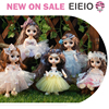 EIEIO New 16cm Bjd Doll 13 Joint Cute Doll 3D Brown Eye Dress Up Fashion Baby with Clothes Shoes Children's DIY Toy Girl Gift