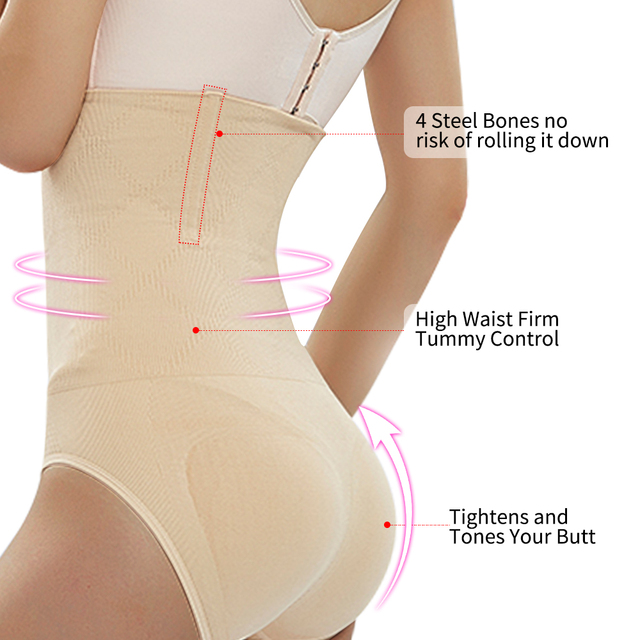 Seamless High Waist Body Shaper Women Tummy Slimming Sheath Control Panties Shapewear Corrective Underwear Waist Trainer 2
