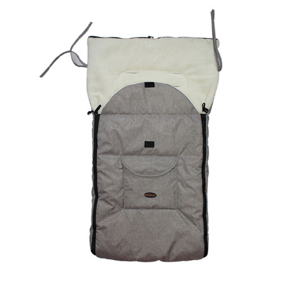 2021 Hot Sale Comfortable Toe Stroller Baby Stroller Baby Carriage Liner Baby Sleeping Bag Universal Accessories Windproof Gray