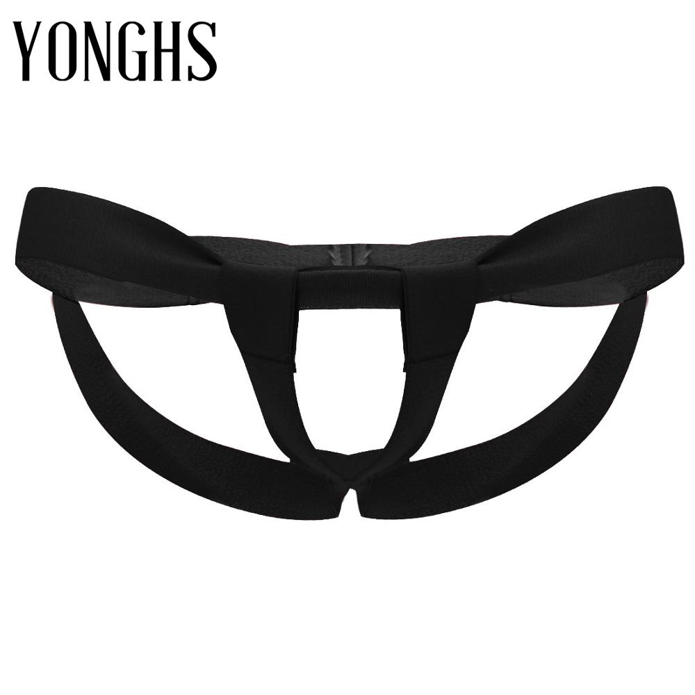 Mans Sex Underwear Bandage G-string Hot Sexy Underwear with Enhancing Strap Open Crotch and Open Butt Lingerie Gay Homme Panties