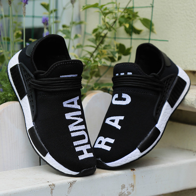 Plus Size 35-47 Casual Shoes Men Weaving Fly Mesh Breathable Light Soft Trainers Couples Shoes Female Flats Sneakers Human Race 1