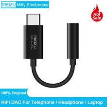 Original meizu dac áudio de alta fidelidade 3.5mm telefone tipo c adaptador usb cabo fone de ouvido amplificador cs43131 chip 600ou pcm 32bit/384k dsd 128
