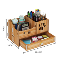 Pen holder storage box creative fashion small fresh simple pen holder office multi purpose debris box desktop decoration wood