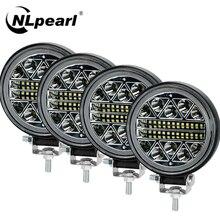 NLpearl 4 calowy 102W listwa świetlna LED robocza Off Road 12V 24V Spot listwa świetlna LED do ciężarówki SUV 4WD 4x4 łódź ATV Jeep ciągnik światło przeciwmgielne