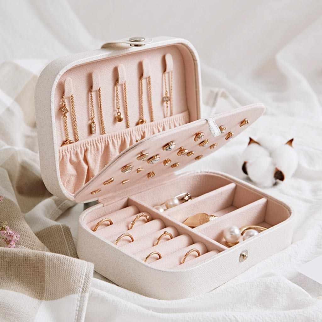 עגיל טבעת תכשיטי תצוגת תיבת אחסון מקרה ארגונית פלנל מגש מחזיק מתנה איפור ארגונית טבעת שרשרת תיבת אחסון