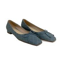 Osunlina женские туфли на низком каблуке с бантом бабочкой и