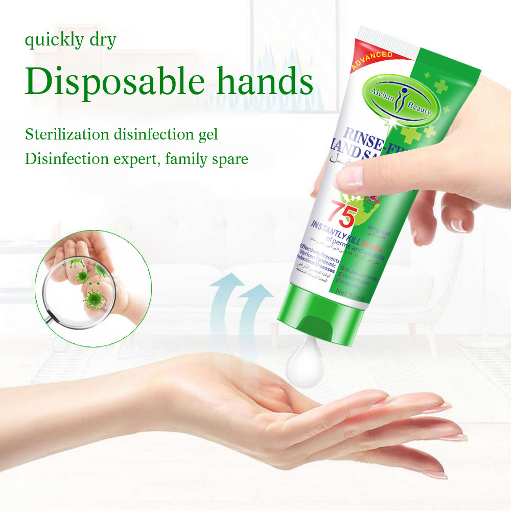 50 Ml Antibacterial Moisturizing Hand Sanitizer Disposable No Clean Alcohol Hand Wash Gel Hand Sanitizer Gel Antiseptic Hand Gel