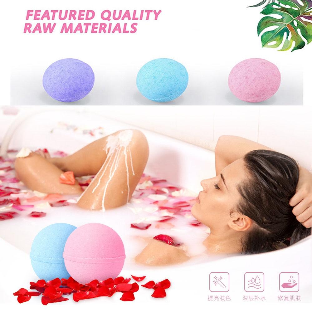 Bath Salt Ball Deep Sea Bath Salt 1PC Body Rose Essential Oil Body Skin Whiten Relax Stress Relief Natural Bubble Shower Bombs