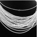 Цепочки и ожерелья с серебряным/золотым покрытием, 30 шт./комплект, 48 см, 2 мм