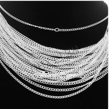 Lots 30pcs Silver/Gold plated chain Necklace finding 48cm,2mm
