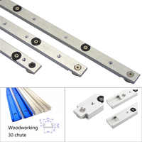 1pcs Aluminium alloy T-tracks Slot Miter Track And Miter Bar Slider Table Saw Miter Gauge Rod for Woodworking Tools DIY