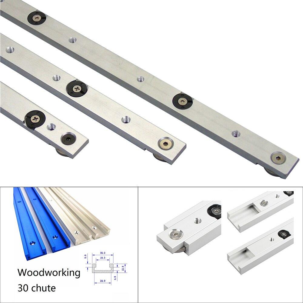 Tige de jauge d'onglet pour scie, voies en alliage d'aluminium fente de la voie d'onglet et de la barre d'onglet pour les outils de menuiserie 1 pièce