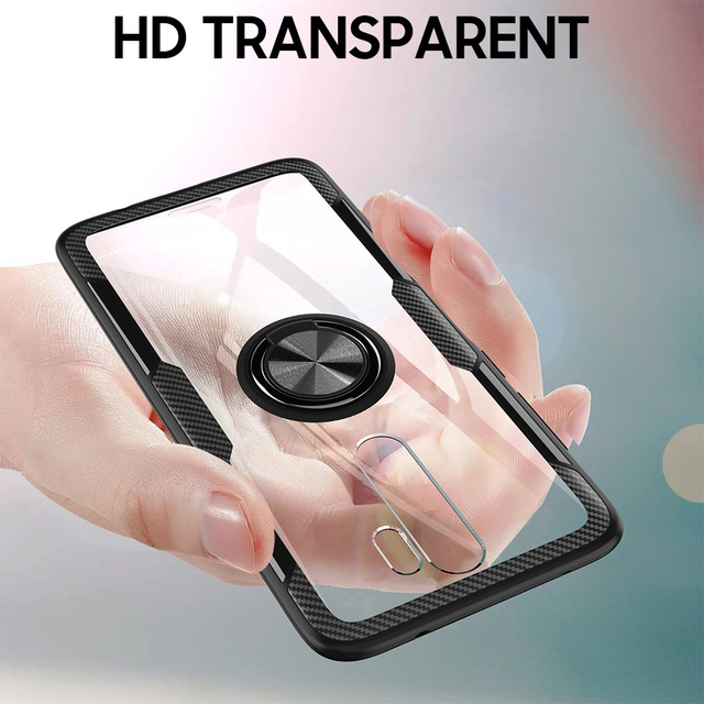 KEYSION Ring Case for Redmi Note 9S 9 Pro Max 8 Pro 7 K20 Clear Shockproof Phone Cover for Xiaomi Mi 10 9T Pro Note 10 Mi 9 Lite 3