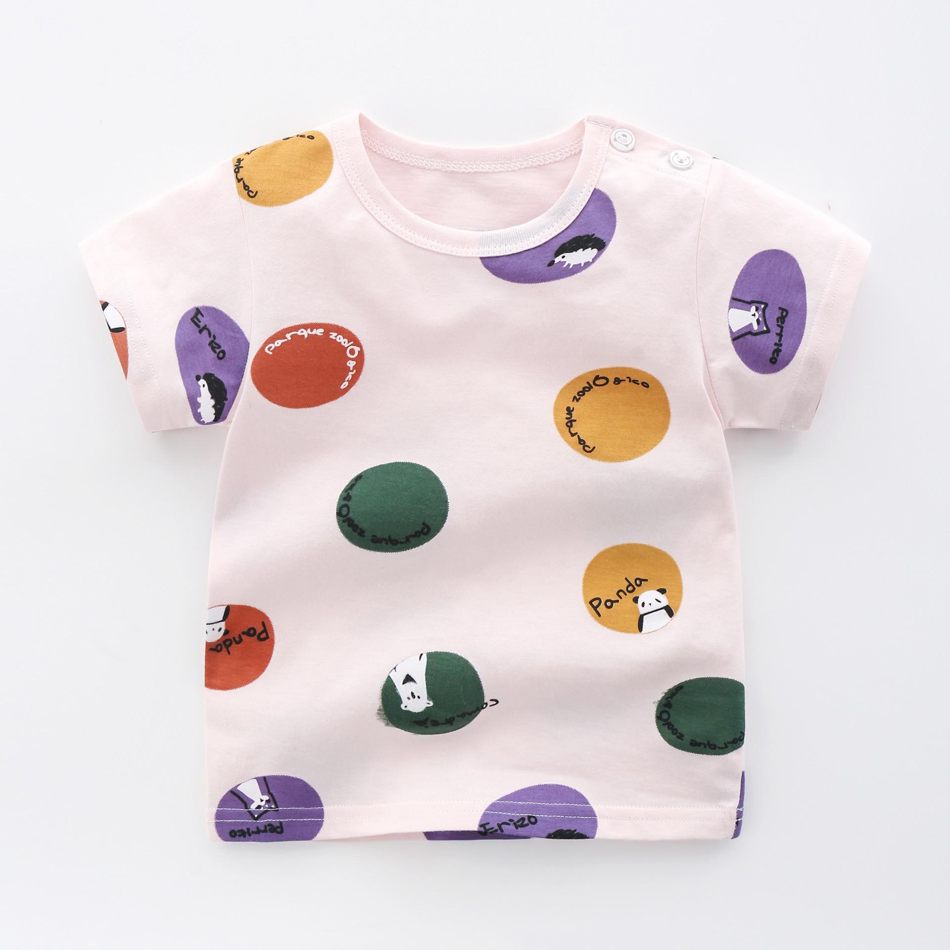 Summer Children's Wear Baby Kids T Shirts Girls Boys Clothes Tshirt Cotton Cartoon Printing Tops T-shirt Children Clothing-2