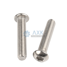 100pcs Stainless steel round head hex socket screws M5*6/8/10/12/14/16/18/20/25/30 mm Round head bolts mushroom head bolt 100pcs lot m5x5 mm m5 5 mm 12 9 alloy steel hex socket head cap screw bolts set screws with cup point m5 5 mm