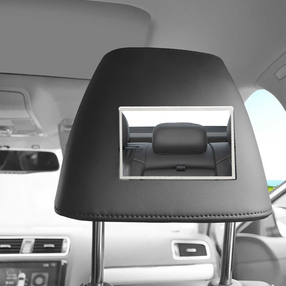 Автомобильный Внутренний солнцезащитный козырек портативное зеркало для макияжа HD зеркало из нержавеющей стали Универсальное автомобильное стильное Зеркало Косметическое