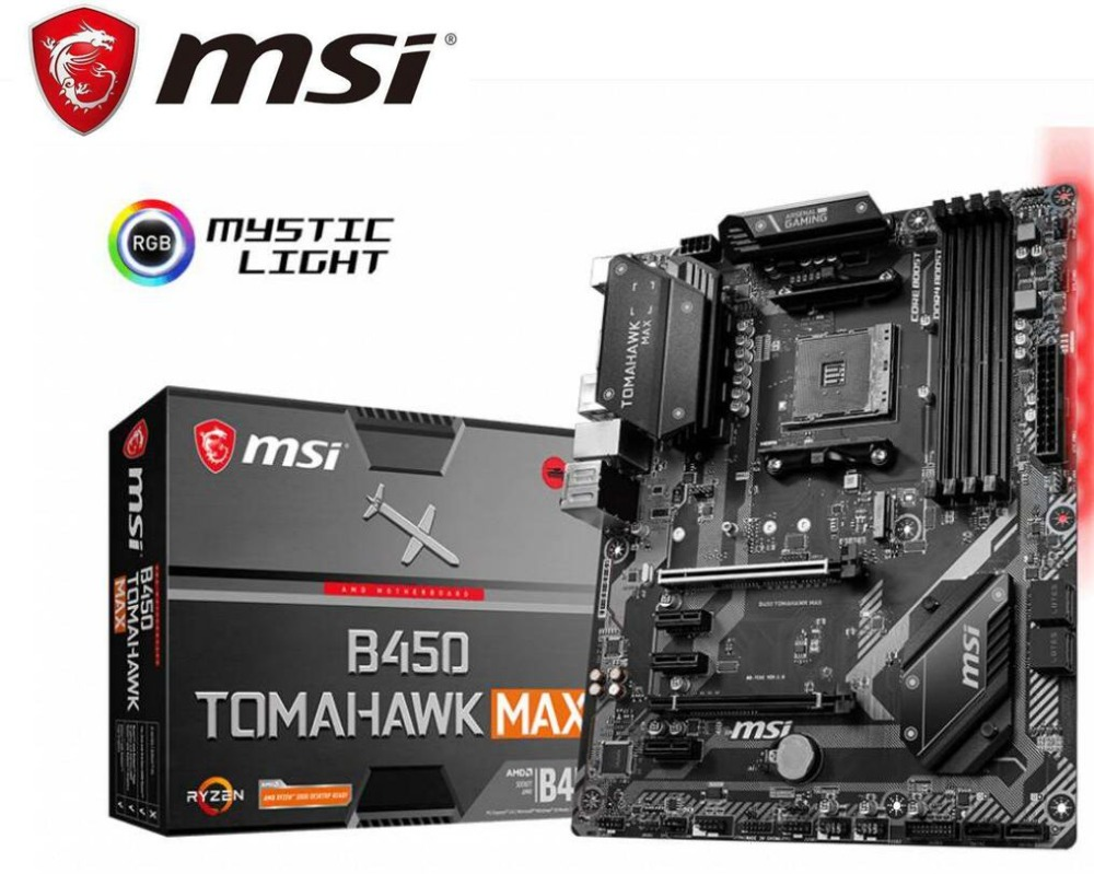 New motherboard for MSI b450 tomahawk max amd ryzen 3rd cpu am4 gaming M.2 USB 3.1 4xDDR4 Crossfire ATX b450 brand mainboard