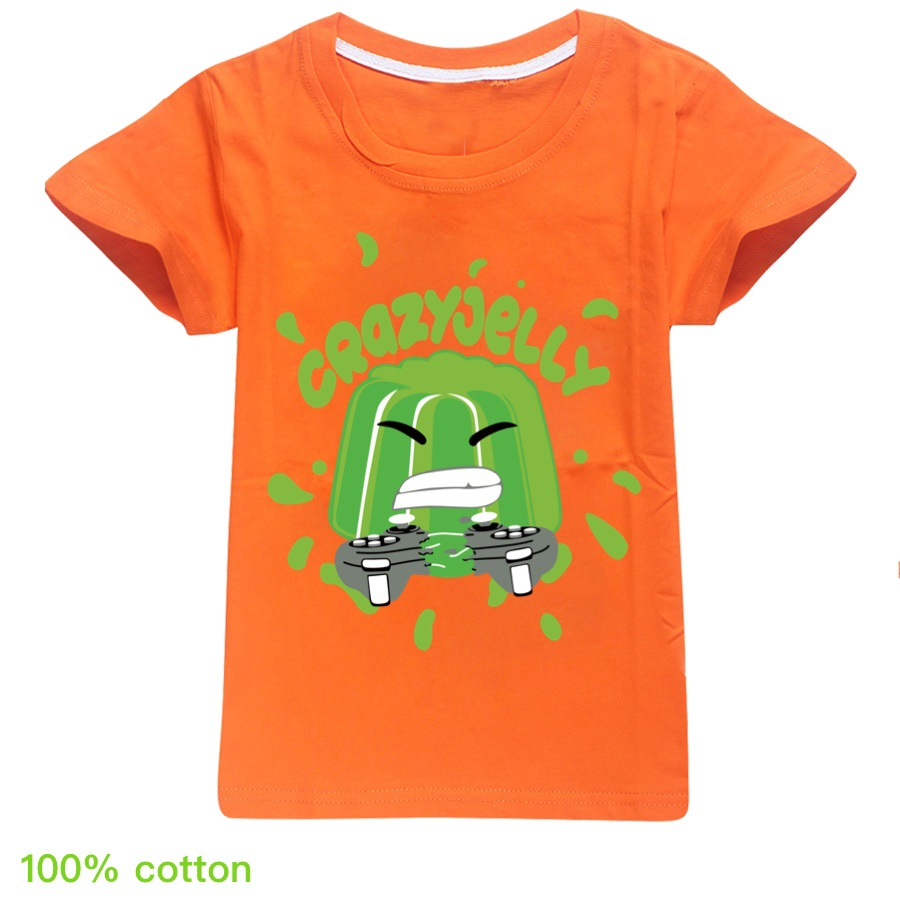 Jelly Youtube Boys Clothes Fashion 12 color T Shirt Kids Clothes Girls Fall Outfits Spring Child Student Unisex 5
