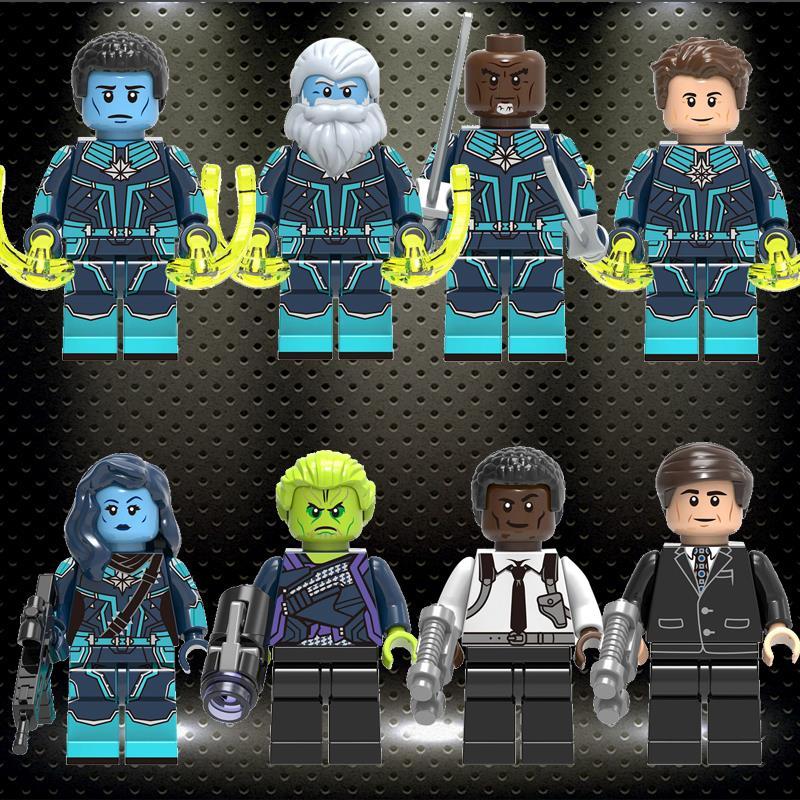 Ed Marvel Building Blocks Super Heroes Minne -Erva Skrull Nick Fury Phil Coulson Bricks Gift Toys For Children X0250