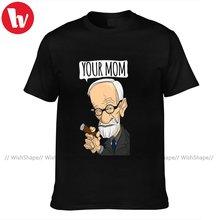 Freud T Shirt Men Funny 100 Percent Cotton Print Tee Shirt Short Sleeves Summer Tshirt 4xl