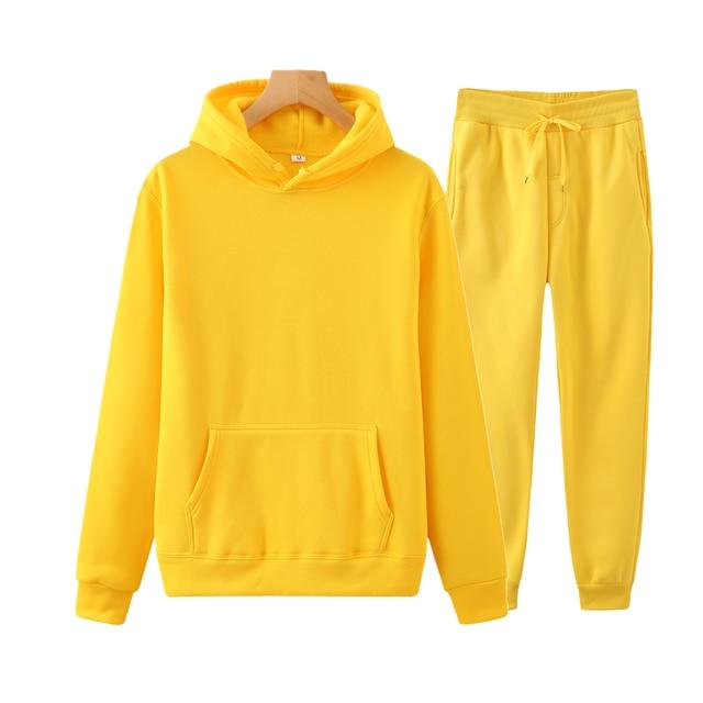 Ladies Suit Hoodie + Pants Fall/Winter Hooded Sweatshirt Sweatpants Fashion Slender Ladies Suit Hoodie Pants Pullover Hoodie 5