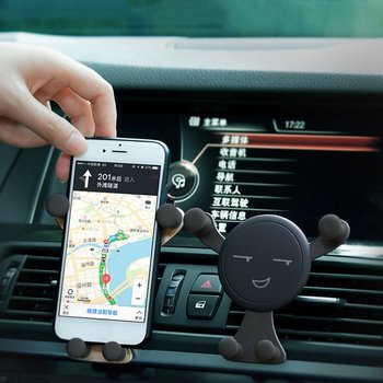 Universal Vehicle Air Outlet Vent Mount Car Holder Stand Smartphone Mobile Phone Holder Bracket Automatic Gravity Holder Clip image