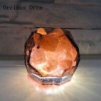 Romantische und kreative kristall salz schreibtisch lampe studie schlafzimmer nacht lampe nordeuropa roman kaffee glas nacht lampe
